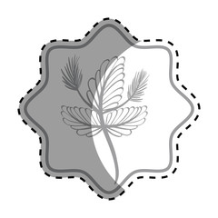emblem rustic flower decoration design