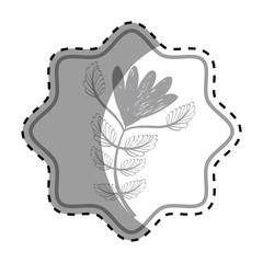 emblem rustic rose decoration design