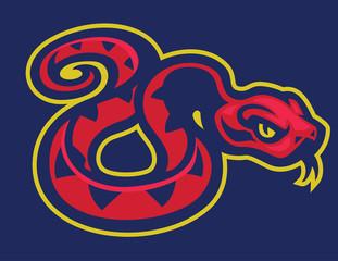 red snake mascot