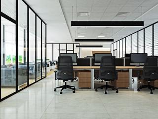 Интерьер современного офиса openspace