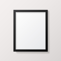 Realistic Empty Black Picture Frame