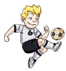Cartoon boy with a ball