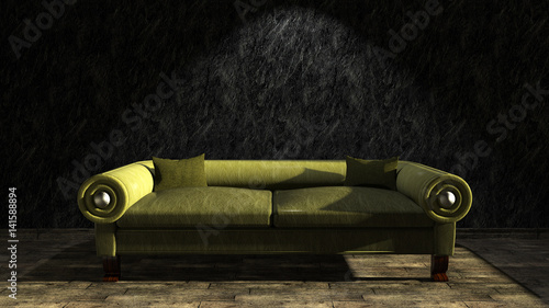 ledersofa vintage look immagini e fotografie royalty free su file 141588894. Black Bedroom Furniture Sets. Home Design Ideas