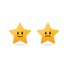 Happy and Sad Star Smileys