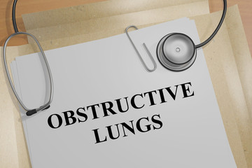 Obstructive Lungs - medical concept