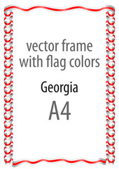 Frame and border of ribbon with the colors of the Georgia flag