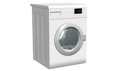 Washing machine, Fully automatic washing machine - isolated on white