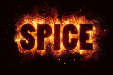 spicy hot spice text on fire flames explosion burning