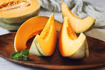 Fresh sweet orange melon