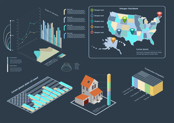 Construction infographic. Vector