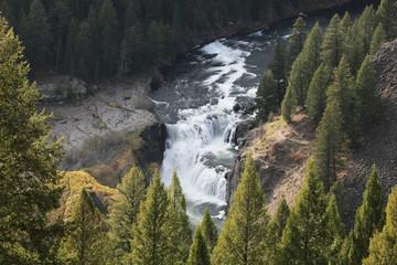 Wall Mural - Beautiful Peaceful Mountain River Waterfalls