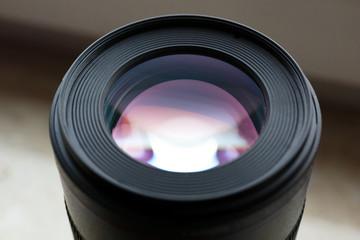 Dogital camera lens close up