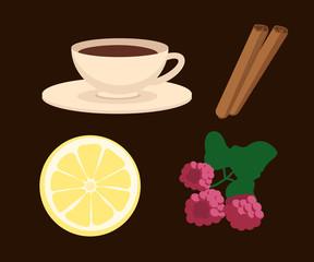 Flat tea vector