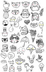 Collection of children doodles