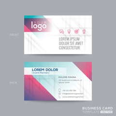 business card with abstract line background