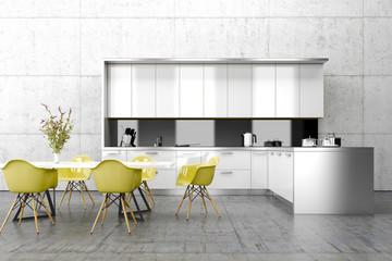 Küche, Innenraum, Essbereich, Tisch, Möbel