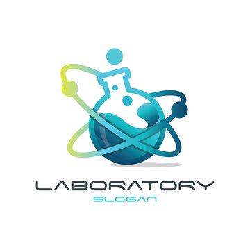 Modern Lab Logo Illustration