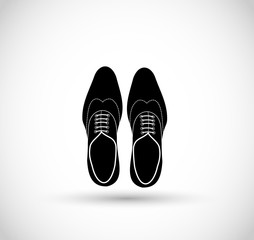 Elegant male shoes icon vector