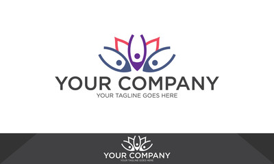 Yoga meditation logo, yoga meditation vector, yoga meditation logo template
