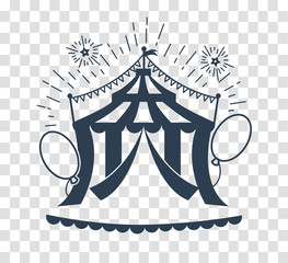 silhouette icon of the circus tent for logo