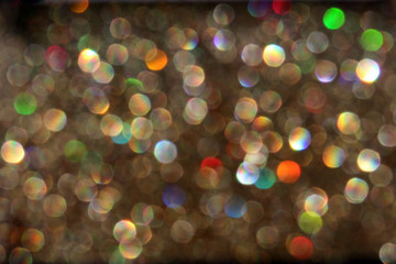 Sparkling bokeh abstract background