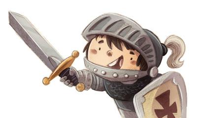 niño principe caballero