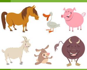 cute farm animal characters set
