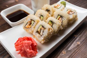 Fried sushi, roll