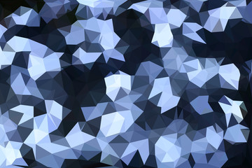 blue and white polygon pattern for background or web banner design.