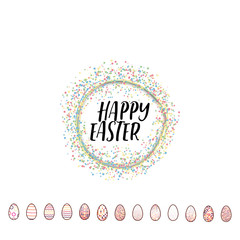 Typographic badges - Happy Easter. On the basis of script fonts, handmade. It can be used to design your printed products