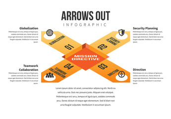 Arrows Out Infographic