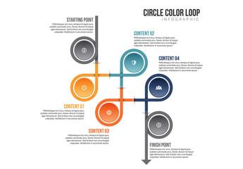 Circle Chain Infographic 6