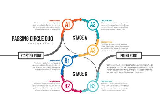 Circle Chain Infographic 7
