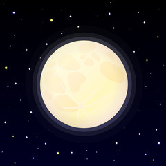 Cartoon full moon illustration