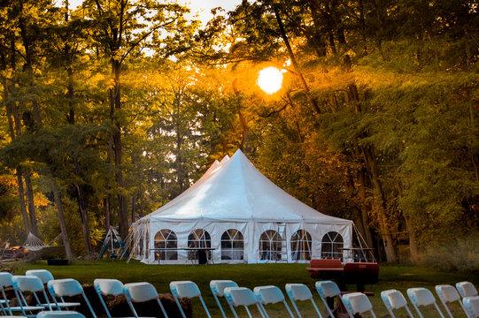Wedding Reception Tent Sunrise