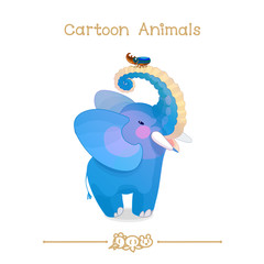 Toons series cartoon animals: african elephant