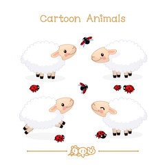 Toons series cartoon animals: sheeps
