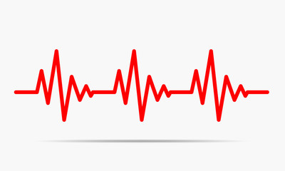 Heartbeat icon - vector illustration.