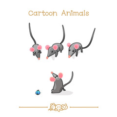 Toons series cartoon animals: Mouse group