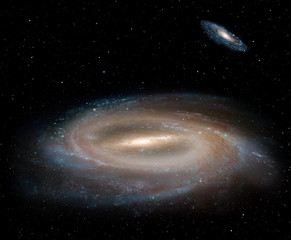 "Our galaxy is milky way ( barred spiral galaxy NGC 1073, Milky Way galaxy has been amended as) ""Elements of this image furnished by NASA """