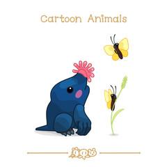 Toons series cartoon animals: star-nosed mole