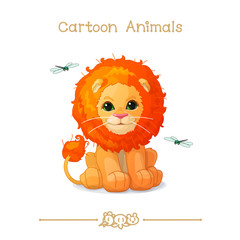 Toons series cartoon animals: cute little lion