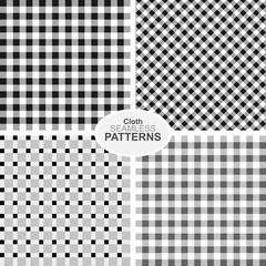 Collection of seamless textile patterns.