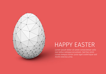 Geometric Easter Card Layout
