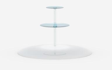 round of glass stand