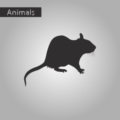 black and white style icon of rat