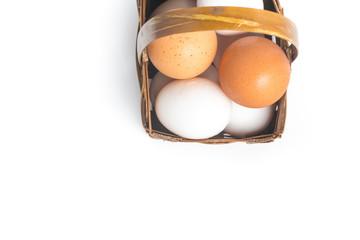Eggs into a basket