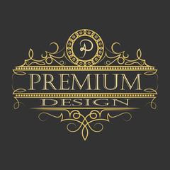 luxury ornament floral design logo.