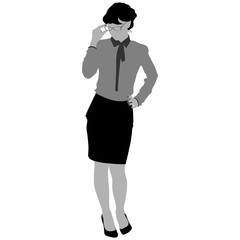 silhouette of the business woman