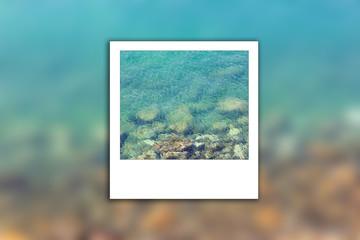 Sea clean blur instant photo
